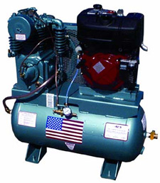 Gas powered Compressor